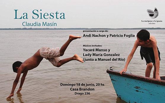 Presentación de La siesta, de Claudia Masin
