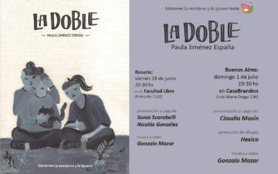 """Presentación de """"La doble"""" de Paula Jiménez España"""